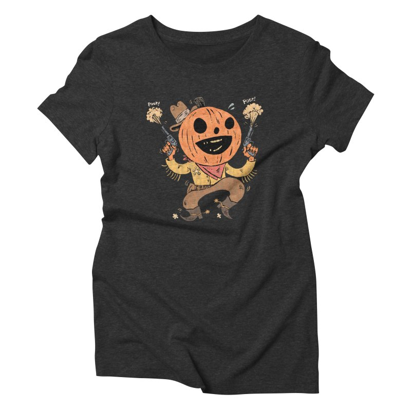 Giddy-Up Halloween! Women's Triblend T-Shirt by Sam Heimer