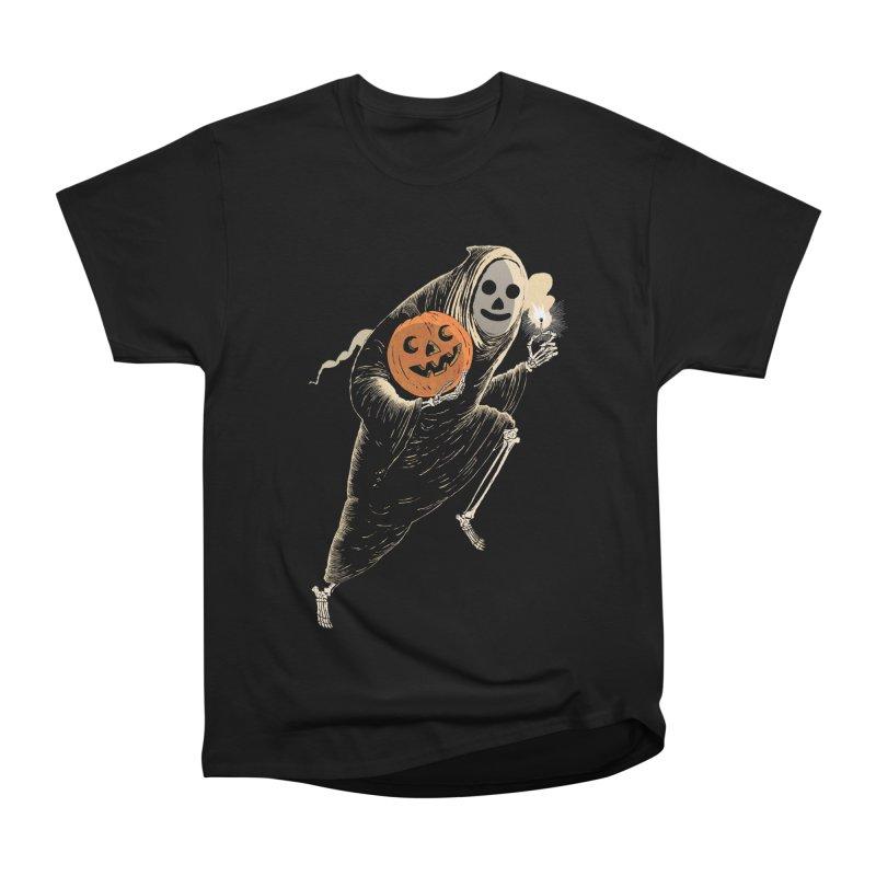 Light the Way O' Halloween Women's Heavyweight Unisex T-Shirt by Sam Heimer
