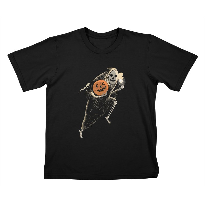 Light the Way O' Halloween Kids T-Shirt by Sam Heimer