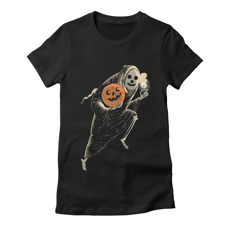 Light the Way O' Halloween Women's Fitted T-Shirt by Sam Heimer