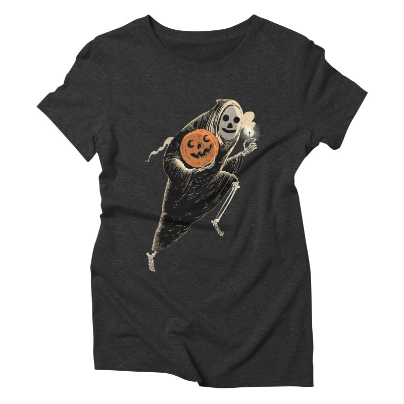 Light the Way O' Halloween Women's Triblend T-Shirt by Sam Heimer