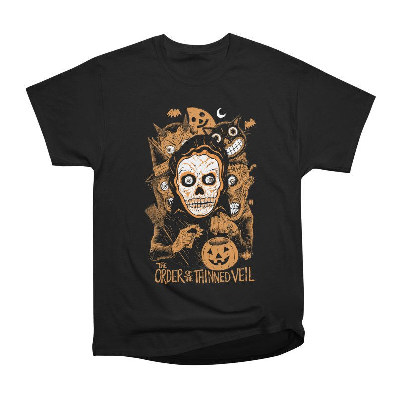 Order of the Thinned Veil 'Trick-Or-Creep' Women's Heavyweight Unisex T-Shirt by Sam Heimer