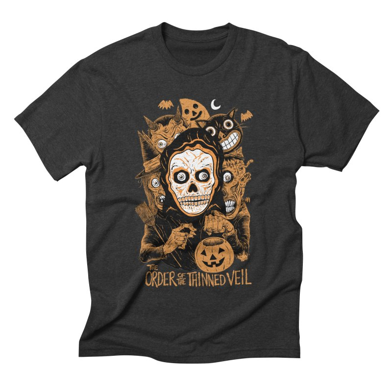 Order of the Thinned Veil 'Trick-Or-Creep' Men's Triblend T-Shirt by Sam Heimer
