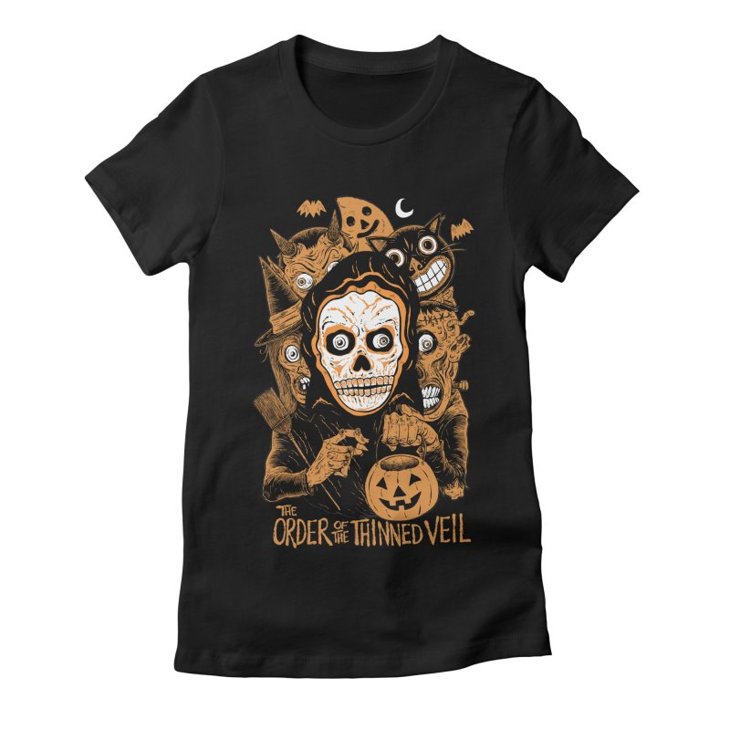 Order of the Thinned Veil 'Trick-Or-Creep' Women's Fitted T-Shirt by Sam Heimer
