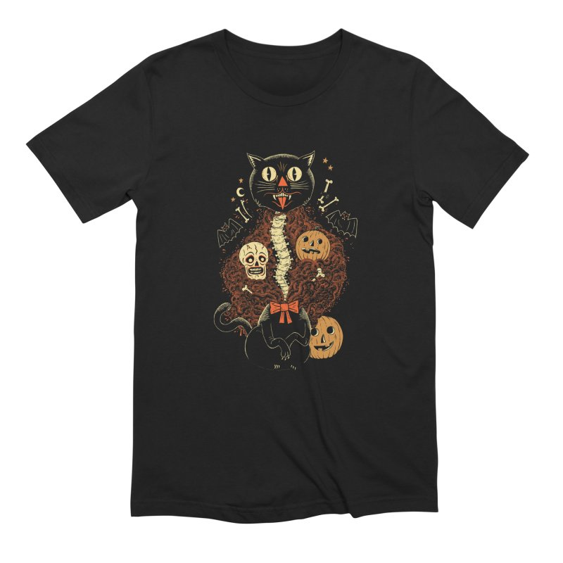 Confetti Cat Men's Extra Soft T-Shirt by Sam Heimer