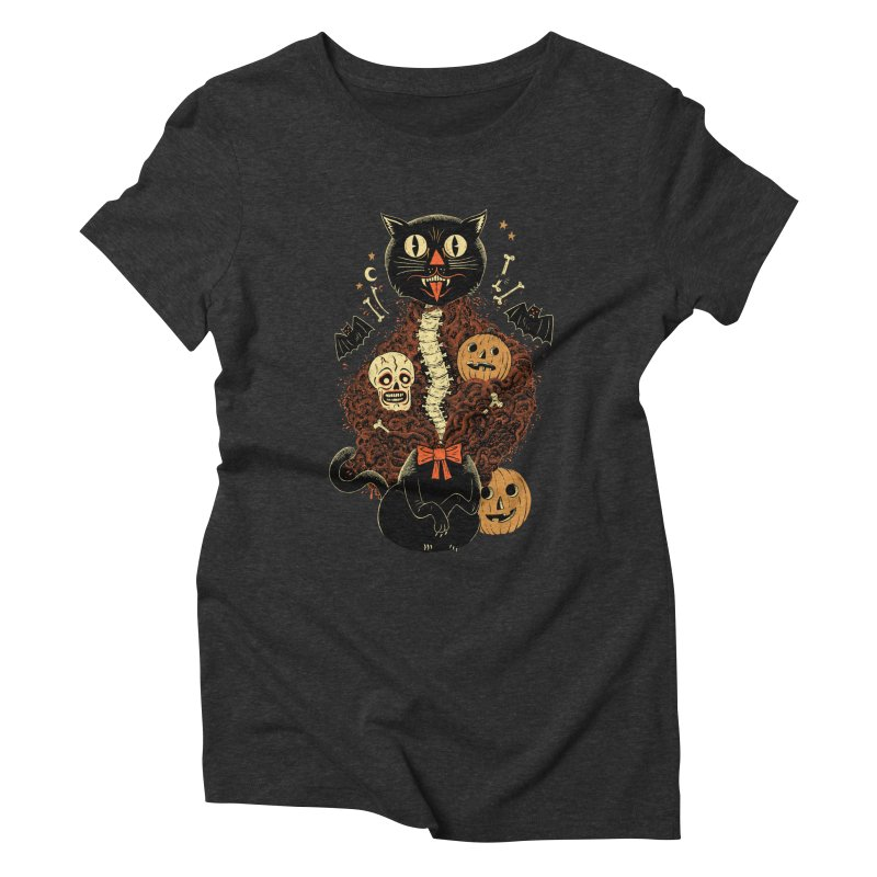 Confetti Cat Women's Triblend T-Shirt by Sam Heimer