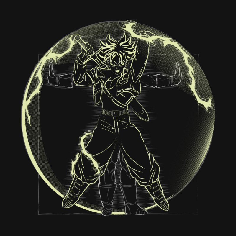 Vitruvian Saiyan ( Trunks) by samiel's Artist Shop