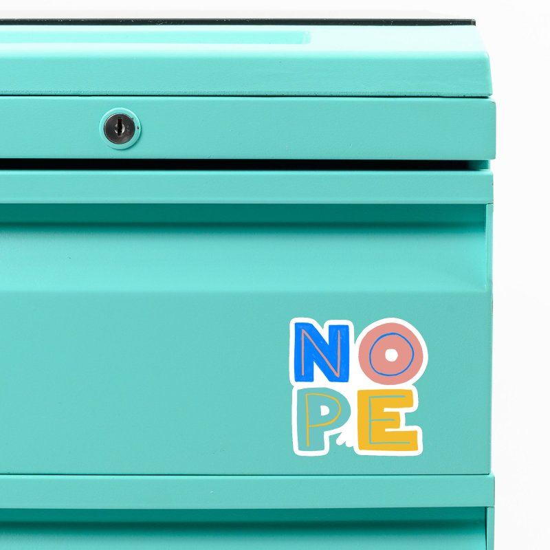 Nope Slogan Accessories Magnet by Sam Osborne Store