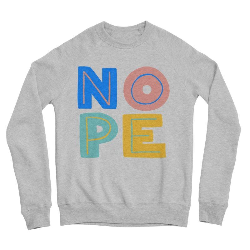Nope Slogan Women's Sponge Fleece Sweatshirt by Sam Osborne Store