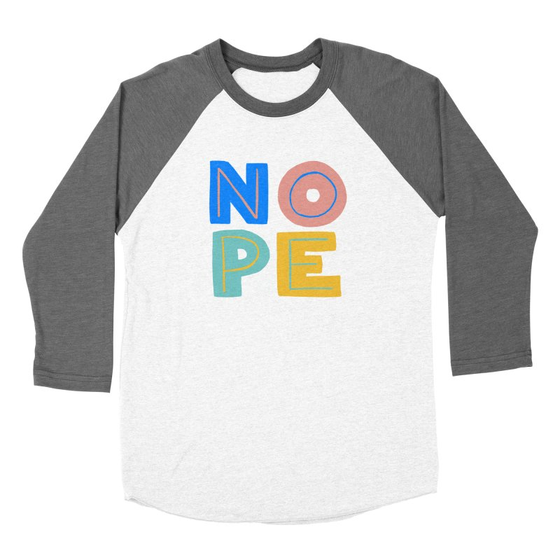 Nope Slogan Men's Longsleeve T-Shirt by Sam Osborne Store
