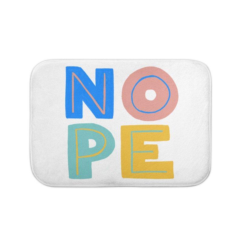 Nope Slogan Home Bath Mat by Sam Osborne Store