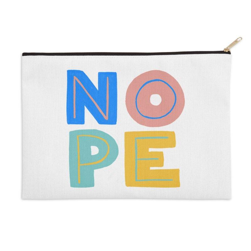 Nope Slogan Accessories Zip Pouch by Sam Osborne Store