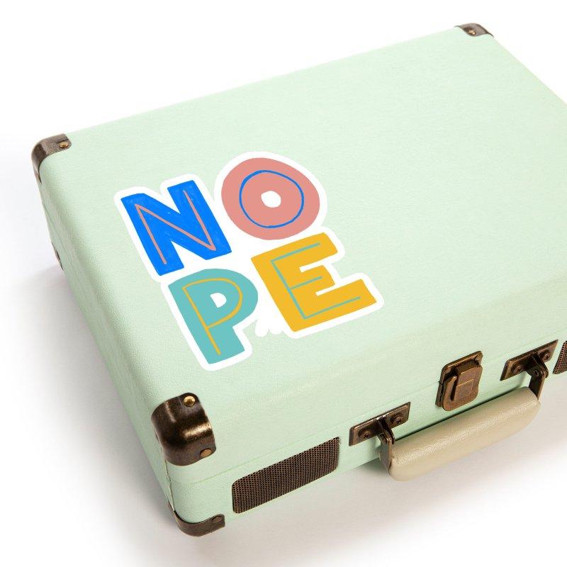 Nope Slogan Accessories Sticker by Sam Osborne Store