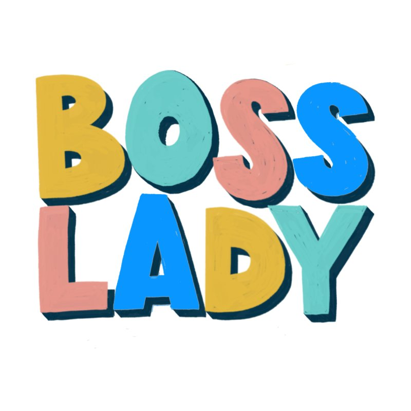 Boss Lady Home Bath Mat by Sam Osborne Store