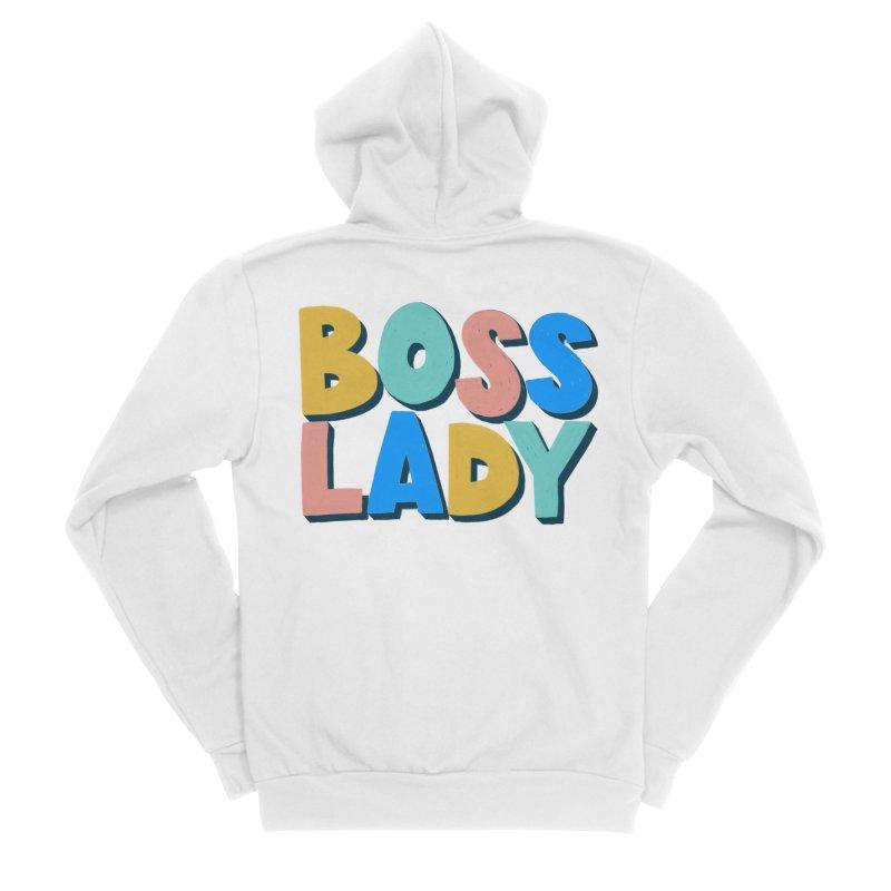 Boss Lady Women's Sponge Fleece Zip-Up Hoody by Sam Osborne Store