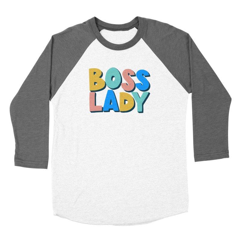 Boss Lady Women's Baseball Triblend Longsleeve T-Shirt by Sam Osborne Store