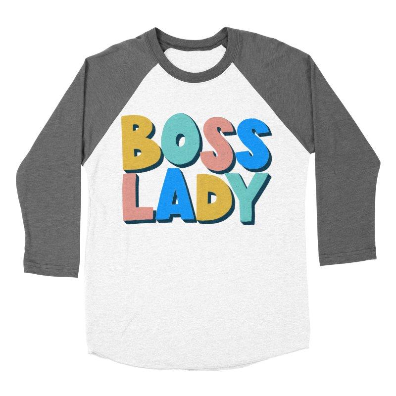 Boss Lady Men's Baseball Triblend Longsleeve T-Shirt by Sam Osborne Store