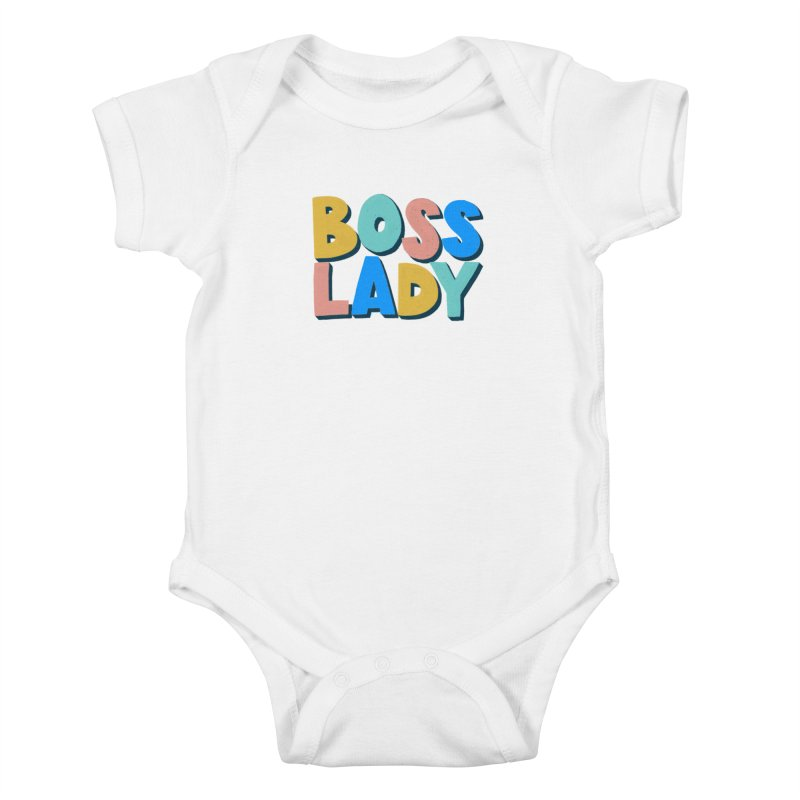 Boss Lady Kids Baby Bodysuit by Sam Osborne Store