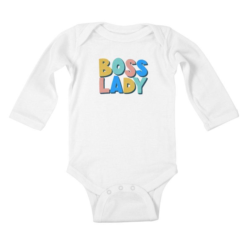 Boss Lady Kids Baby Longsleeve Bodysuit by Sam Osborne Store