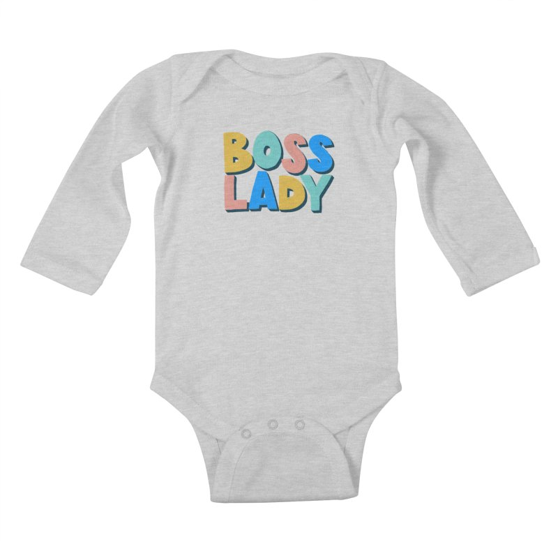 Boss Lady Kids Baby Longsleeve Bodysuit by Sam Osborne Store