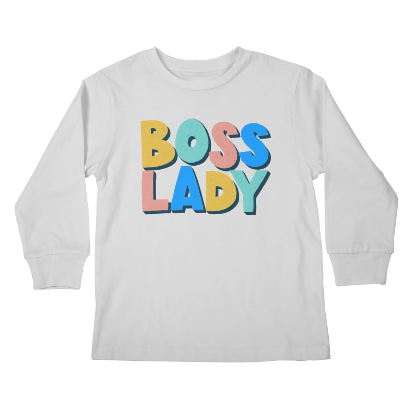 Boss Lady Kids Longsleeve T-Shirt by Sam Osborne Store
