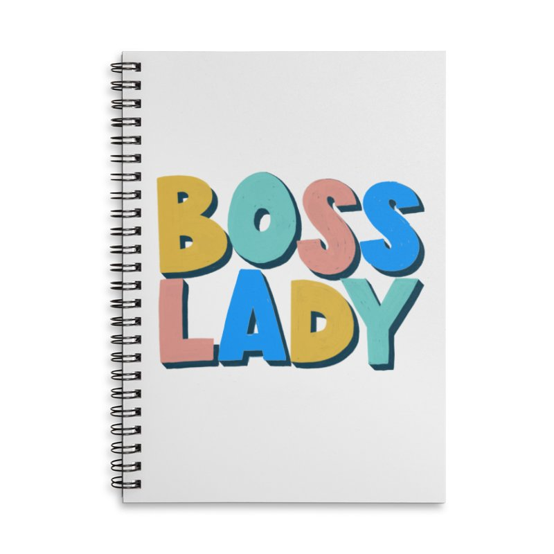 Boss Lady Accessories Lined Spiral Notebook by Sam Osborne Store