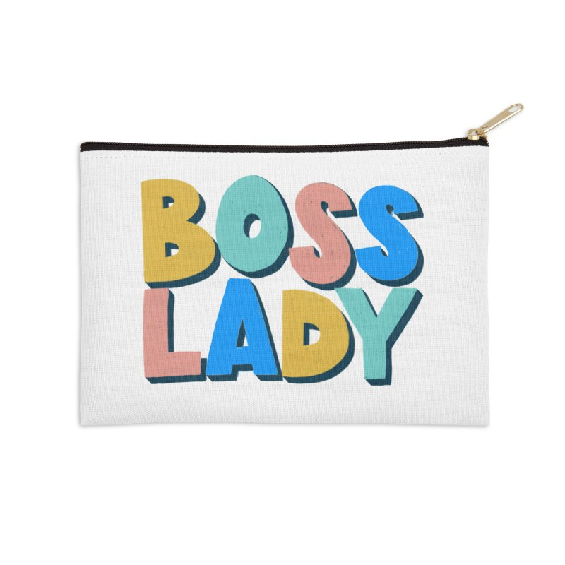 Boss Lady Accessories Zip Pouch by Sam Osborne Store