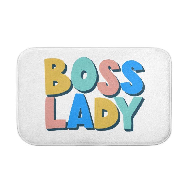 Boss Lady Home Bath Mat by Sam Osborne Store