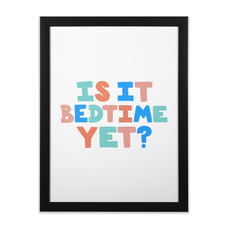 Is It Bedtime Home Framed Fine Art Print by Sam Osborne Store