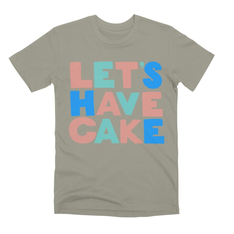 Let's Have Cake Men's Premium T-Shirt by Sam Osborne Store