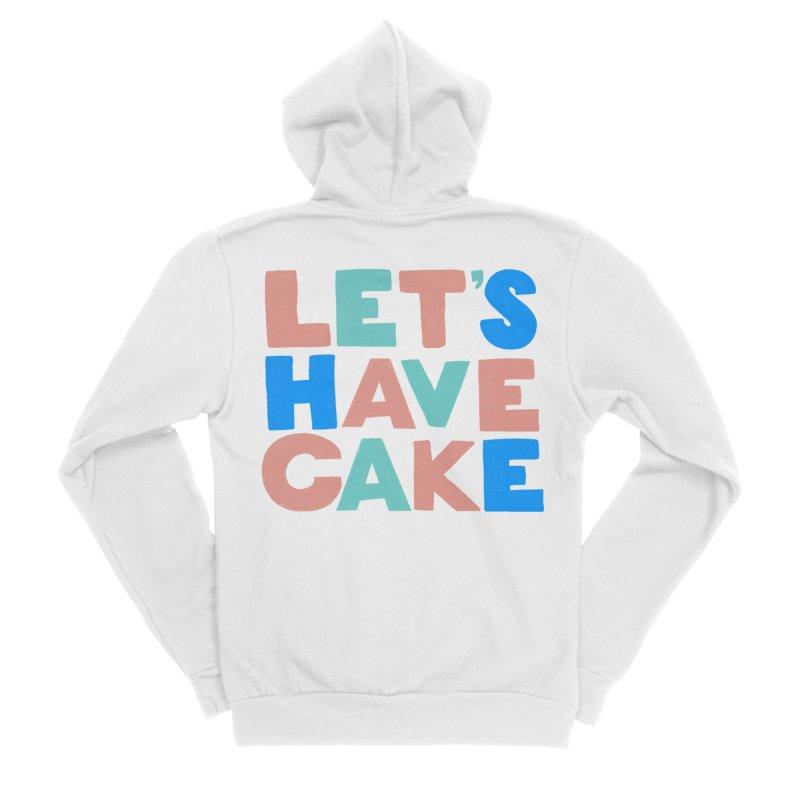 Let's Have Cake Men's Sponge Fleece Zip-Up Hoody by Sam Osborne Store