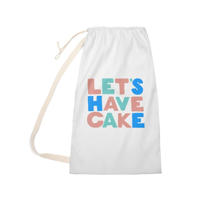 Let's Have Cake Accessories Laundry Bag Bag by Sam Osborne Store