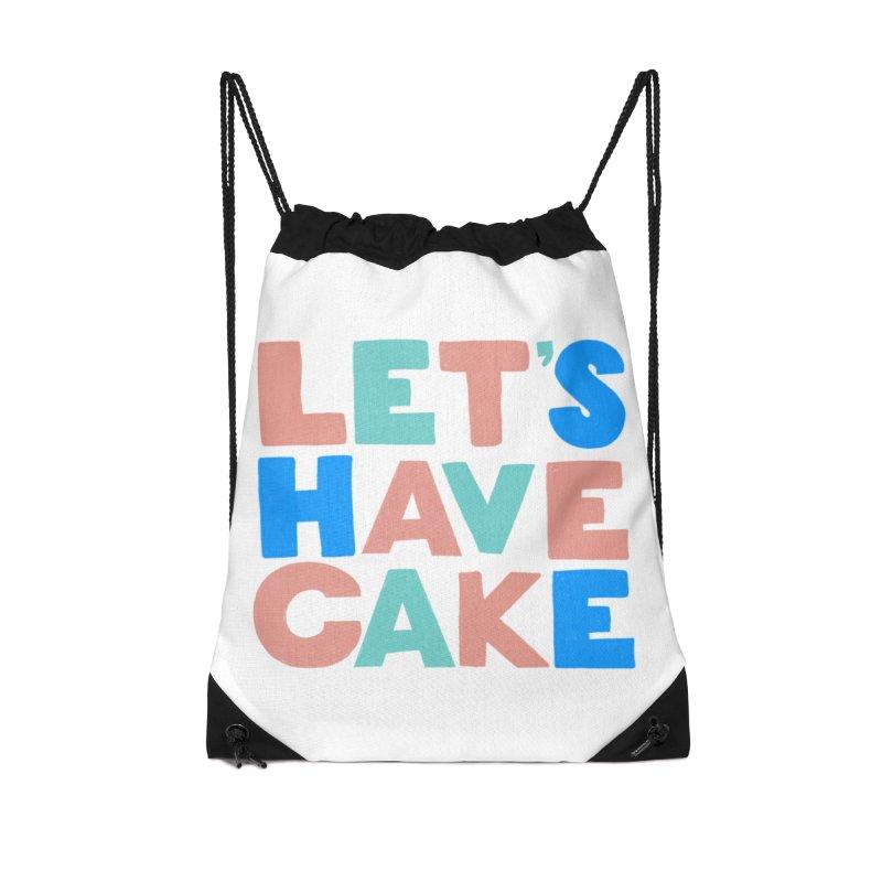 Let's Have Cake Accessories Drawstring Bag Bag by Sam Osborne Store