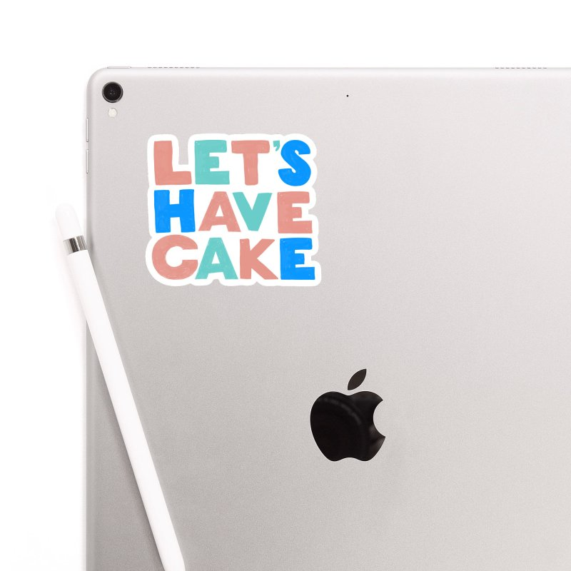 Let's Have Cake Accessories Sticker by Sam Osborne Store