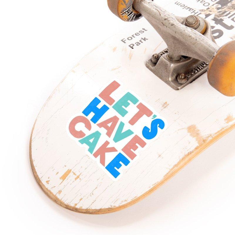 Let's Have Cake Accessories Sticker by Sam Osborne Store