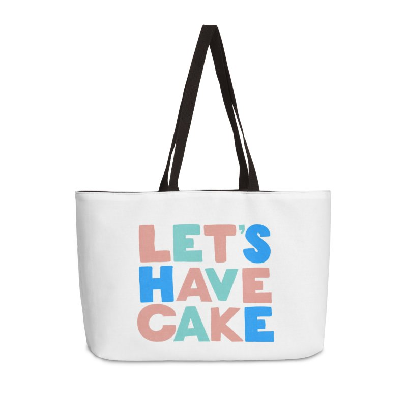 Let's Have Cake Accessories Weekender Bag Bag by Sam Osborne Store