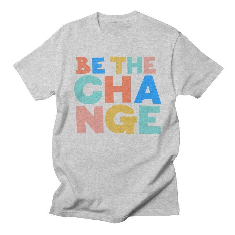 Be The Change Men's Regular T-Shirt by Sam Osborne Store