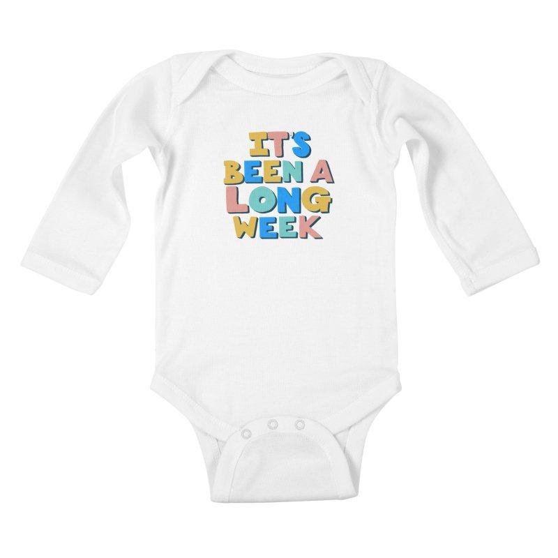 It's Been A Long Week Kids Baby Longsleeve Bodysuit by Sam Osborne Store
