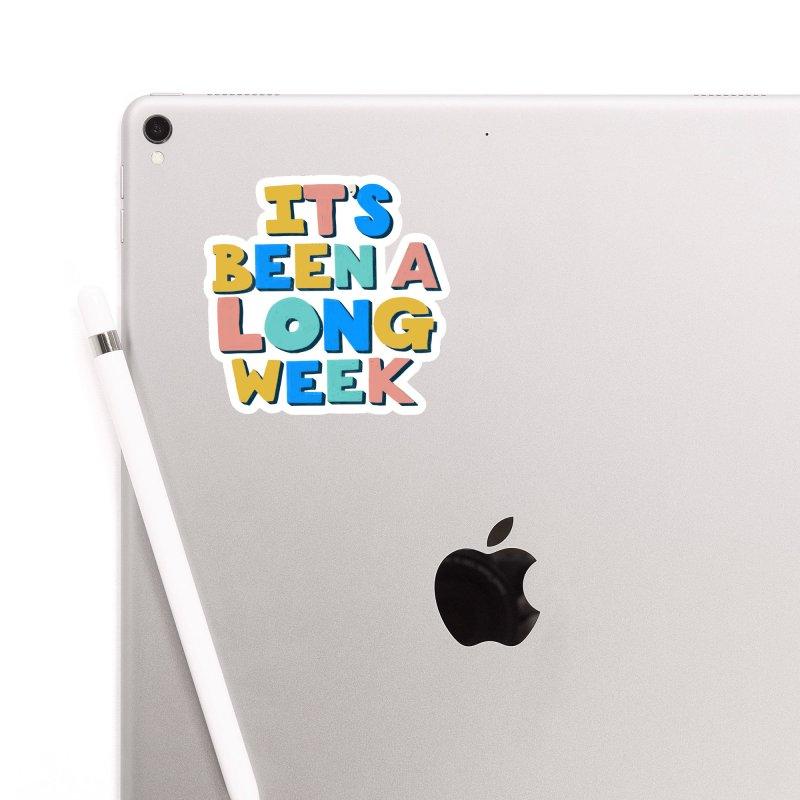 It's Been A Long Week Accessories Sticker by Sam Osborne Store