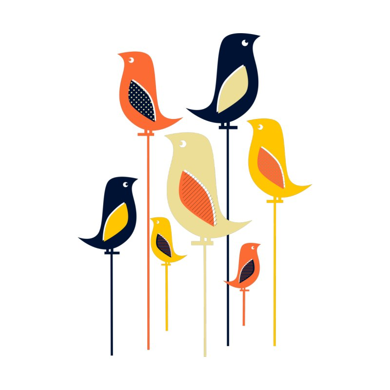 Mid Century Birds by Sam Osborne Store