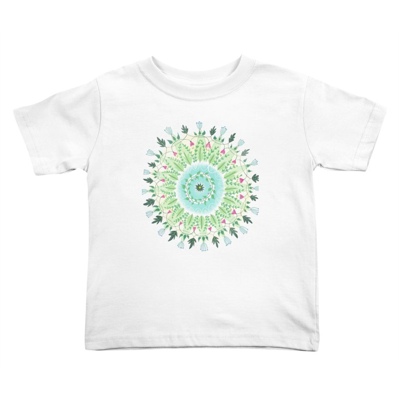 Flower Circle Kids Toddler T-Shirt by Sam Osborne Store