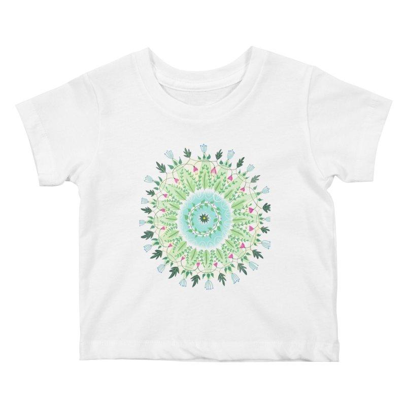 Flower Circle Kids Baby T-Shirt by Sam Osborne Store