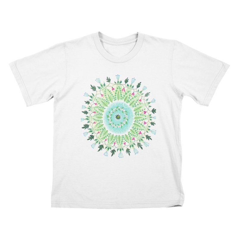 Flower Circle Kids T-shirt by Sam Osborne Store