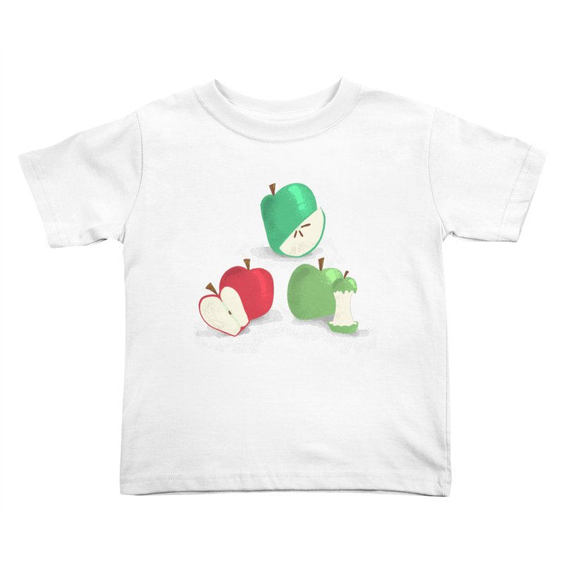 Three Apples Kids Toddler T-Shirt by Sam Osborne Store