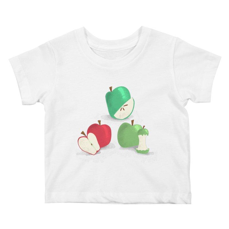 Three Apples Kids Baby T-Shirt by Sam Osborne Store