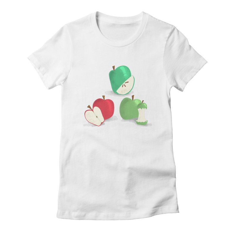 Three Apples Women's Fitted T-Shirt by Sam Osborne Store