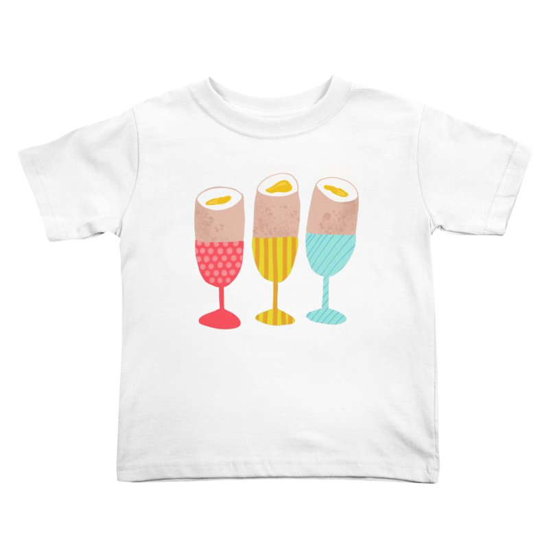 Boiled Eggs Kids Toddler T-Shirt by Sam Osborne Store
