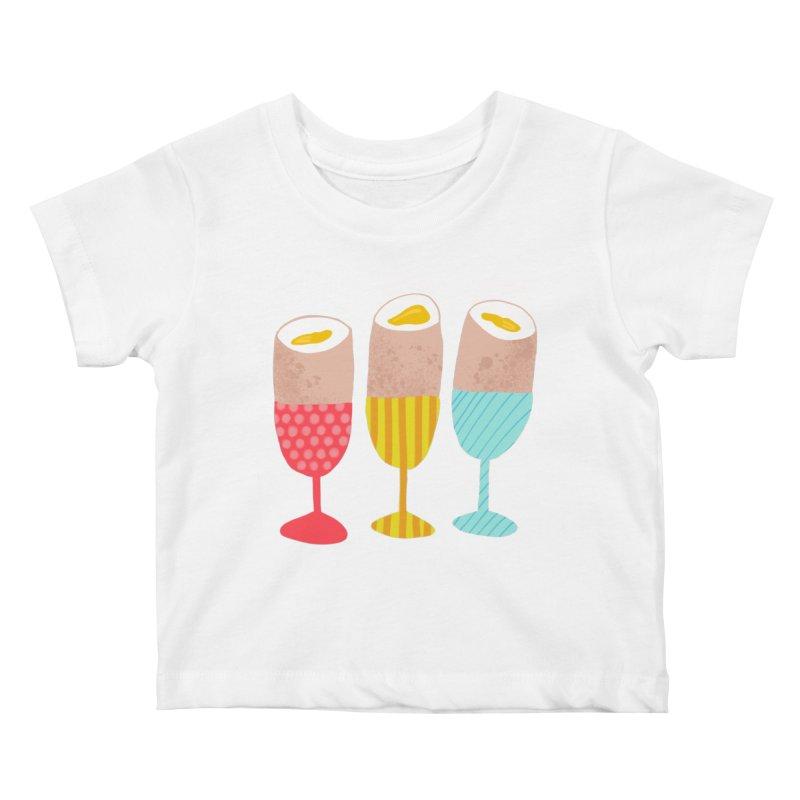 Boiled Eggs Kids Baby T-Shirt by Sam Osborne Store
