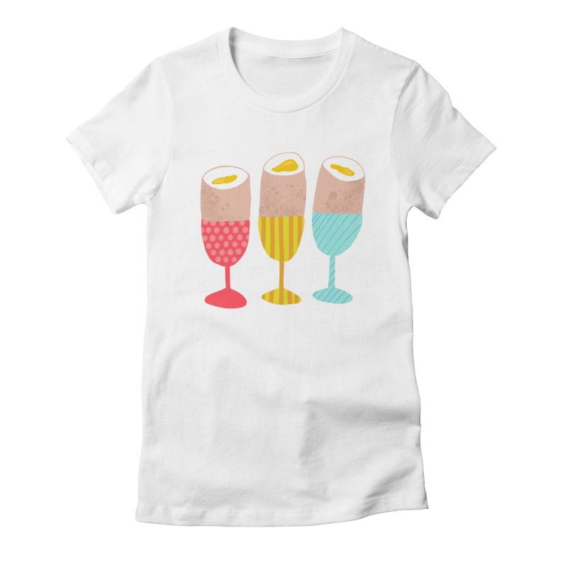 Boiled Eggs Women's Fitted T-Shirt by Sam Osborne Store