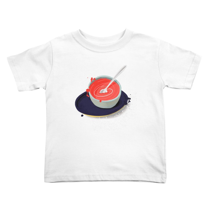 Soup Splatter Kids Toddler T-Shirt by Sam Osborne Store